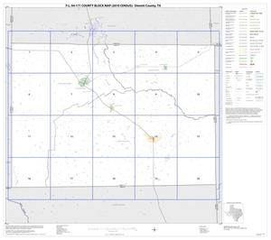 Primary view of object titled 'P.L. 94-171 County Block Map (2010 Census): Dimmit County, Index'.