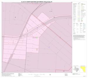 Primary view of object titled 'P.L. 94-171 County Block Map (2010 Census): El Paso County, Inset H01'.