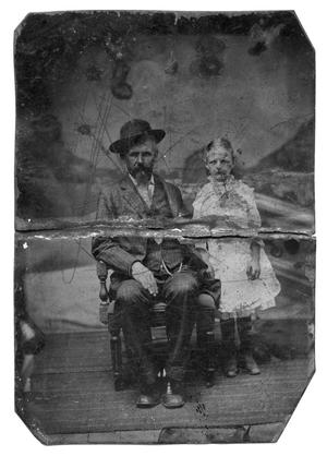 Primary view of object titled 'Lou Beall Sawyer and Her Father William E.P. Sawyer'.