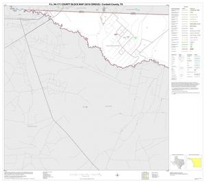 Primary view of object titled 'P.L. 94-171 County Block Map (2010 Census): Crockett County, Block 1'.