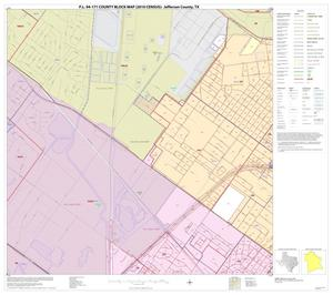 Primary view of object titled 'P.L. 94-171 County Block Map (2010 Census): Jefferson County, Inset F01'.
