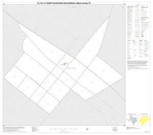 Primary view of object titled 'P.L. 94-171 County Block Map (2010 Census): Wilson County, Inset B01'.