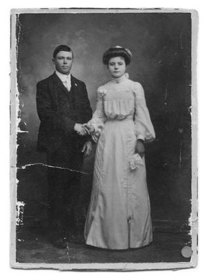 Primary view of object titled 'Young Couple's Wedding Portrait'.