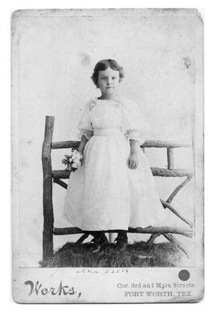 Primary view of object titled 'Lena Ellis on her 5th Birthday, 1894'.