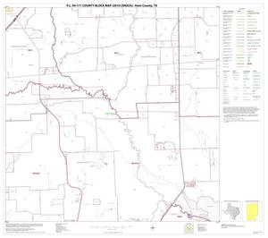 Primary view of object titled 'P.L. 94-171 County Block Map (2010 Census): Hunt County, Block 18'.