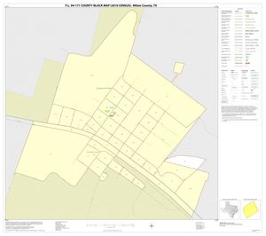 Primary view of object titled 'P.L. 94-171 County Block Map (2010 Census): Milam County, Inset A01'.