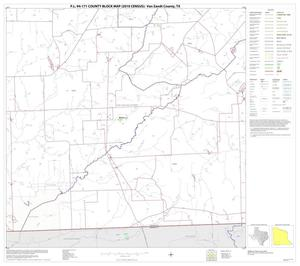 Primary view of object titled 'P.L. 94-171 County Block Map (2010 Census): Van Zandt County, Block 21'.