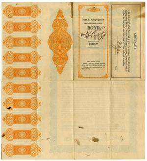 Primary view of object titled '[Beth- El Congregation Second Mortgage Bond - $500.00]'.