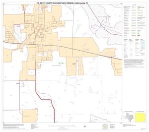 Primary view of object titled 'P.L. 94-171 County Block Map (2010 Census): Collin County, Block 56'.