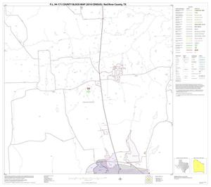 Primary view of object titled 'P.L. 94-171 County Block Map (2010 Census): Red River County, Block 16'.