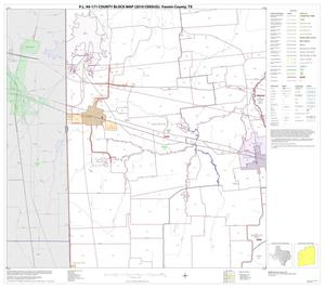 Primary view of object titled 'P.L. 94-171 County Block Map (2010 Census): Fannin County, Block 8'.