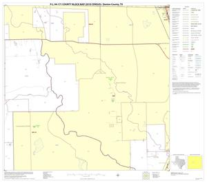 Primary view of object titled 'P.L. 94-171 County Block Map (2010 Census): Denton County, Block 44'.