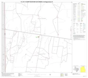 Primary view of object titled 'P.L. 94-171 County Block Map (2010 Census): Jim Hogg County, Block 9'.
