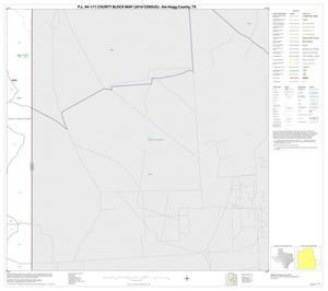 Primary view of object titled 'P.L. 94-171 County Block Map (2010 Census): Jim Hogg County, Block 18'.
