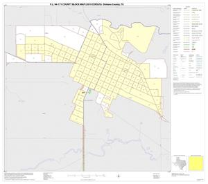 Primary view of object titled 'P.L. 94-171 County Block Map (2010 Census): Dickens County, Inset B01'.