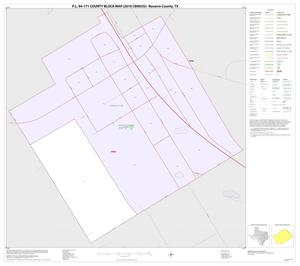 Primary view of object titled 'P.L. 94-171 County Block Map (2010 Census): Navarro County, Inset B01'.