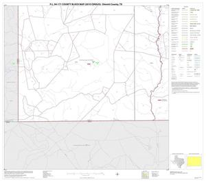 Primary view of object titled 'P.L. 94-171 County Block Map (2010 Census): Dimmit County, Block 16'.