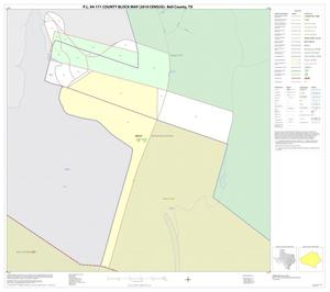 Primary view of object titled 'P.L. 94-171 County Block Map (2010 Census): Bell County, Inset G01'.