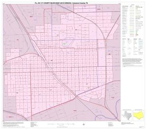 Primary view of object titled 'P.L. 94-171 County Block Map (2010 Census): Cameron County, Inset I01'.
