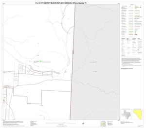 Primary view of object titled 'P.L. 94-171 County Block Map (2010 Census): El Paso County, Block 20'.