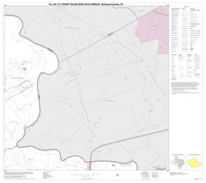Primary view of object titled 'P.L. 94-171 County Block Map (2010 Census): Burleson County, Block 3'.