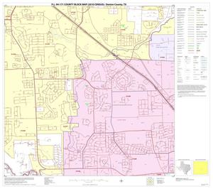 Primary view of object titled 'P.L. 94-171 County Block Map (2010 Census): Denton County, Block 56'.