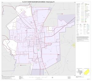 Primary view of object titled 'P.L. 94-171 County Block Map (2010 Census): Trinity County, Inset B01'.