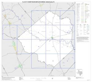 Primary view of object titled 'P.L. 94-171 County Block Map (2010 Census): Goliad County, Index'.