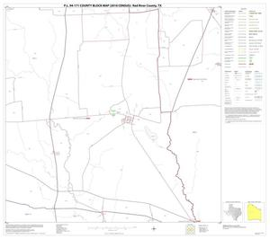 Primary view of object titled 'P.L. 94-171 County Block Map (2010 Census): Red River County, Block 15'.