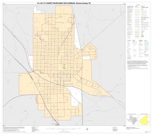 Primary view of object titled 'P.L. 94-171 County Block Map (2010 Census): Karnes County, Inset C01'.