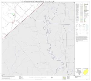 Primary view of object titled 'P.L. 94-171 County Block Map (2010 Census): Gonzales County, Block 21'.