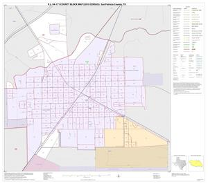 Primary view of object titled 'P.L. 94-171 County Block Map (2010 Census): San Patricio County, Inset C01'.