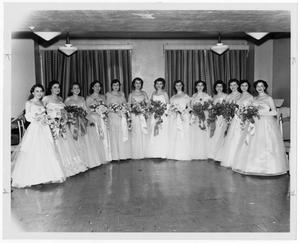 "Primary view of object titled '[""Presentation,"" party for Jewish Debutantes]'."