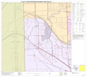Primary view of object titled 'P.L. 94-171 County Block Map (2010 Census): Dallas County, Block 10'.