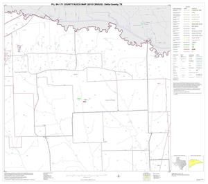 Primary view of object titled 'P.L. 94-171 County Block Map (2010 Census): Delta County, Block 2'.