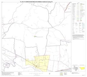 Primary view of object titled 'P.L. 94-171 County Block Map (2010 Census): Henderson County, Block 23'.