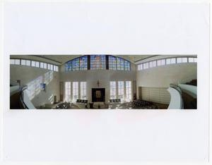 Primary view of object titled '[Main sanctuary at new synagogue, Beth-El Congregation]'.