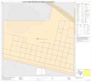 Primary view of object titled 'P.L. 94-171 County Block Map (2010 Census): Carson County, Inset D01'.