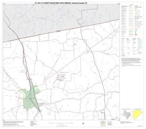 Primary view of object titled 'P.L. 94-171 County Block Map (2010 Census): Houston County, Block 3'.