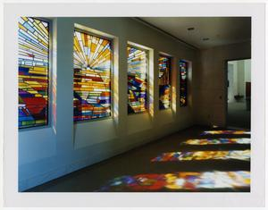 Primary view of object titled '[Stained-Glass Window Mural]'.