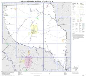 Primary view of object titled 'P.L. 94-171 County Block Map (2010 Census): Nacogdoches County, Index'.
