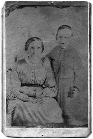 Primary view of object titled '[Photograph of an Older Woman and a Child]'.