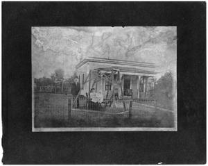 Primary view of object titled '[Family in Their Front Yard]'.