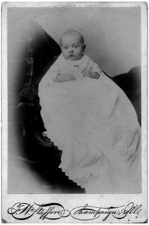 Primary view of object titled '[Portrait of a Baby]'.