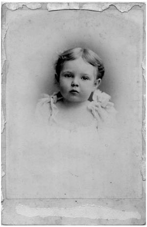 Primary view of object titled '[Portrait of a Baby's Face]'.
