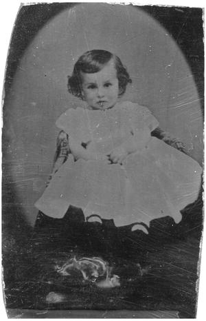 Primary view of object titled '[Child Seated in a Chair]'.