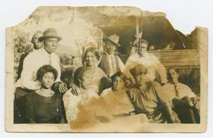 Primary view of object titled '[Group of People in Quakertown]'.