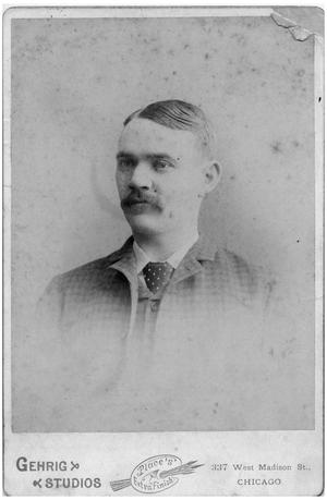 Primary view of object titled '[Portrait of a Man with a Mustache]'.