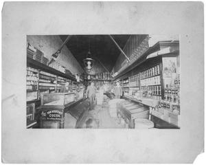 Primary view of object titled 'Interior of John Halliday's Grocery Store'.