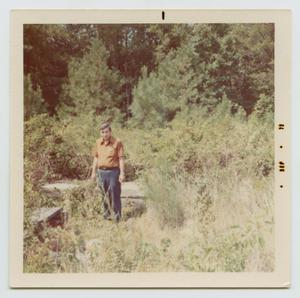 Primary view of object titled '[Anthony Joseph Smith, Sr. at the Anthony Garnett Smith, Sr. Cemetery]'.